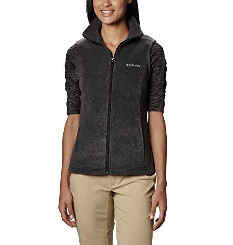 Columbia Women's Benton Springs Soft Fleece Vest, Charcoal Heather, Large