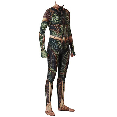 YQFZ Aquaman Cosplay Kostuum, Bodysuit Spandex Jumpsuits, Fancy Dress Kostuum, Film Spel Rol Speel Kleding