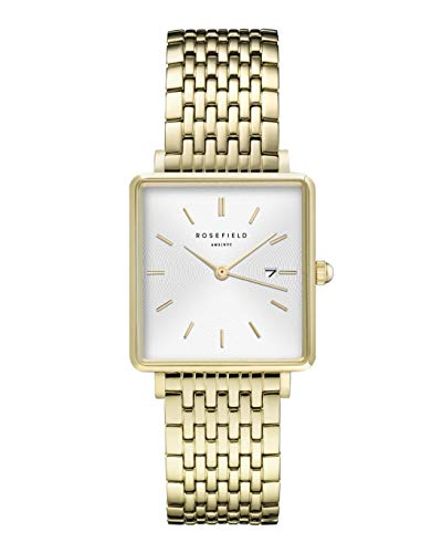 Rosefield Women's Year-Round Quartz Watch with Stainless Steel Strap, Gold, 16 (Model: QWSG-Q09)