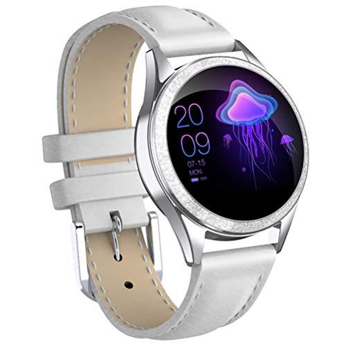 HJKPM Frauen-Smartwatch, IP68 Wasserdicht Und Weise Sports Intelligente Uhr Mit Herzfrequenzschlafüberwachung Und Physiologischer Zeit Erinnerung Usw. Funktion,C