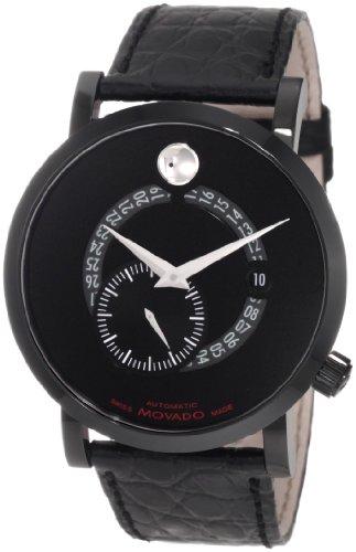 Movado 606485 0606485 - Reloj para Hombres, Correa de Cuero Color Negro