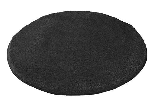 Kleine Wolke (Meusch) 2871905518 Badteppich Mona, 80 cm rund, schiefer