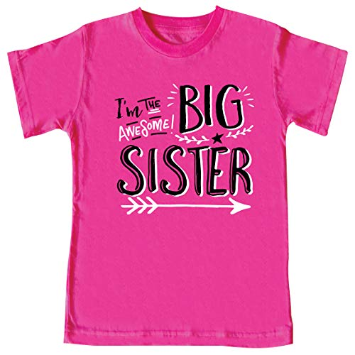 Texas Tees Tshirts for Sisters, I'm The Big Sis, Hipster Design, Includes Medium 10-12