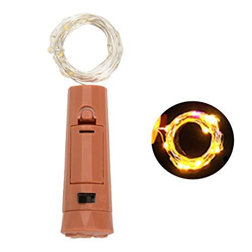 RG-FA 5pcs/Box Lipstick Corcho Botella De Vino Lámpara LED Con Baterías Mini Cadena De Luces - Amarillo