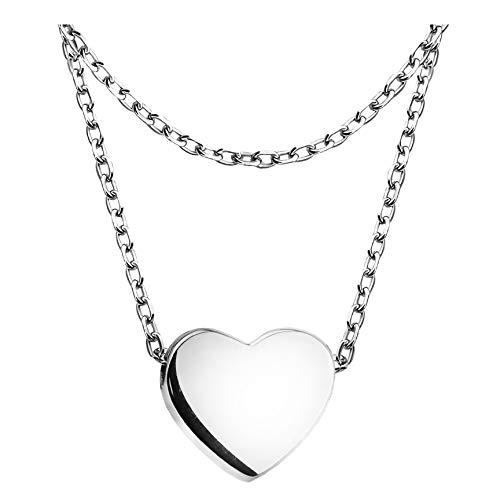 SOFIA MILANI - Damen Halskette 925 Silber - Layer Anhänger Herz - 50284