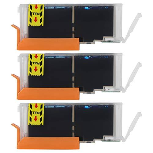 Cartucho de tinta de impresora, caja de impresora de inyección de tinta duradera, caja colorida 3 piezas para hogares para empresas empresas hospitales escuelas (azul)