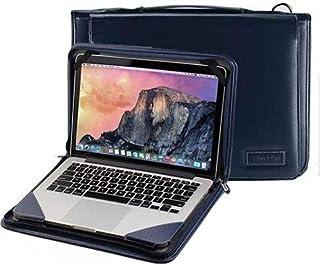 """Broonel Blauw lederen laptop Hoes - compatibel met Lenovo ThinkPad T14s 14"""" Laptop"""