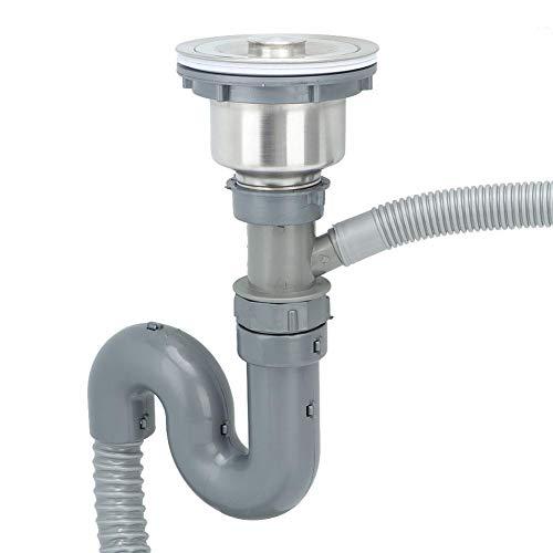 Rör handfat enkel tank rördelar expanderbar flexibel diskbänk avloppsrör rör rör S fälla, badrum avlopp VVS