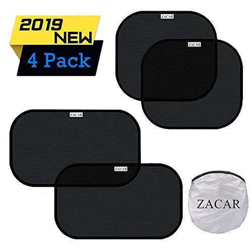 ZACAR Car Window Shade (4 Pack), Cling Car Window Shades for Baby, 80 GSM Car Sun Shade Protect Your...