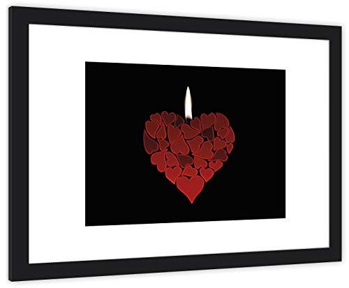 GaviaStore Poster und Gemälde - Gerahmte Fotos - 70x50 cm - bild kunstdruck wohnzimmer wandbilder wall art picture bilder home decor gemalt Rahmen (Liebe)