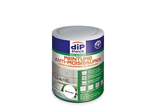 Peinture Anti-Moisissures, Dip étanch - Blanc Satin, 0,75L