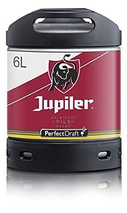 Cerveza PerfectDraft un barril de 6 litros de Jupiler - Lager. Máquina de tiro casera. Incluye un depósito de 5 euros.