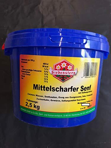 Senf Siebenstern mittelscharf 2,5 Kg Eimer