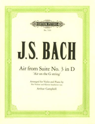 Air (Orchestersuite 3 d-Dur Bwv 1068). Violine, Klavier