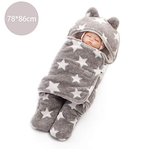 Viesky Katoen Pasgeboren Swaddle Baby Zachte Deken Slaapzak Pluche Koraal Fleece Wrap Handdoek Leuke Cartoon Oren 78X86cm A