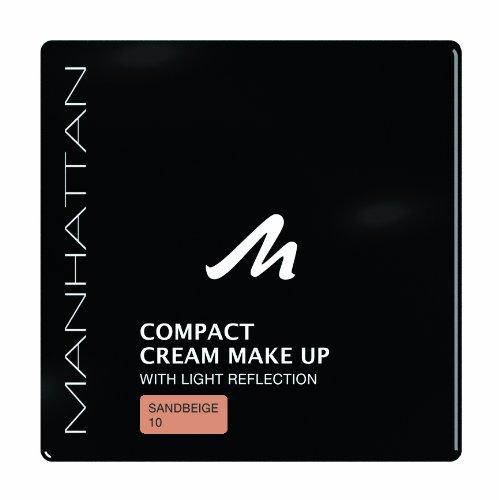 Manhattan 18247 Compact Cream Makeup, sandbeige, 1er Pack