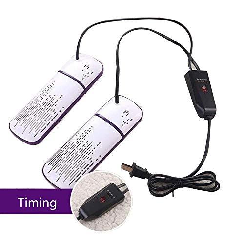 KYLL Schuhtrockner Elektro Schuhe Trockner Doppel Heizung Retractable Schuhwärmer, Desodorierenden Sterilisieren mit Timer, Weiss