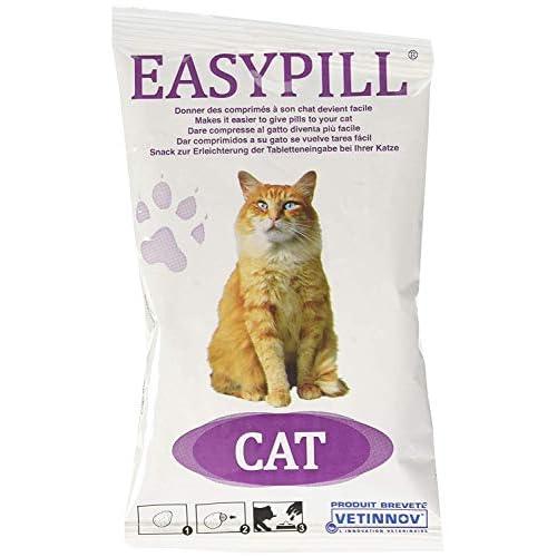 EASYPILL CAT - Pappe Imbustate Singolarmente Per Gatti, 4 tavolette da 10 grammi