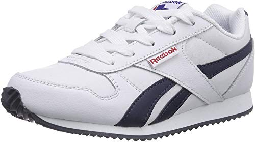 Reebok Royal Classic Jogger, Unisex-Kinder Sneakers, Weiß (White/Athletic Navy/Red), EU 32 (UK 1 / US 1.5)