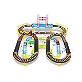 WLGQ Coche eléctrico Creative Free to Fight Light Music Track Coche de Juguete Tren pequeño Camino eléctrico Coche Niños Niño 3-6 Regalo de cumpleaños (Color: Versión de Carga, Tamaño: 3 Coches)
