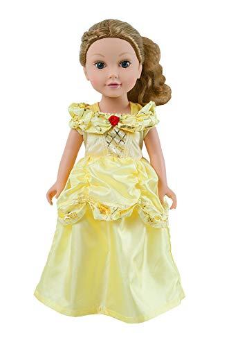 Little Adventures Yellow Beauty Princess Doll Dress