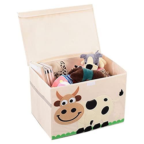 Caja De Almacenaje, Cajas Organizadoras Con Niños Libros Juguetes Ropa Caja de Almacenamiento Dibujos animados Patrón de Animal Ropa de cama Sundries Organizador Gran Lavadero Besker BaúL Para Juguete