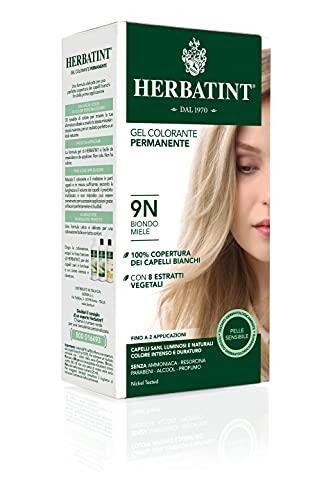 Herbatint Gel Colorante Permanente 9N Biondo Miele 150ml