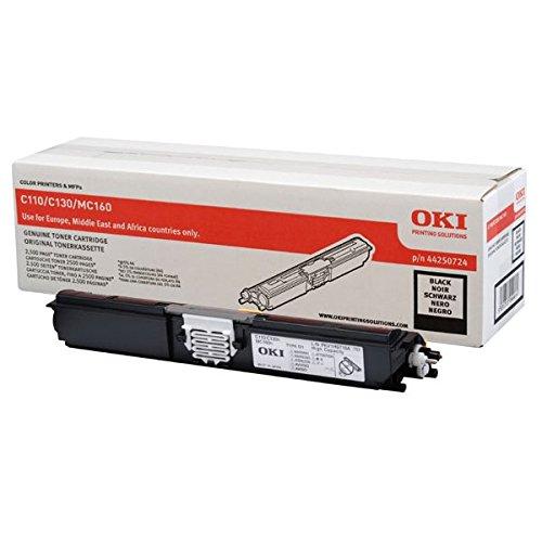 OKI 44250724 C110 Toner, ISO / IEC 19752, 2500 Seiten, schwarz