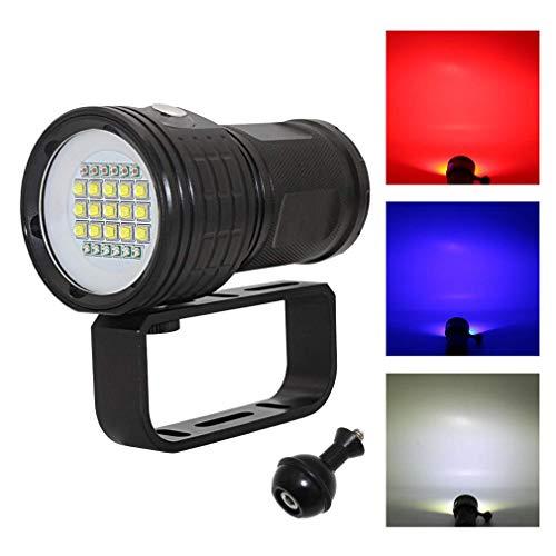 Preisvergleich Produktbild ZUZU Taucherlampe 18000Lm Unterwasser-LED-Taschenlampe 7-Modi 27 Beleuchtung Unterwasser 100 Meter wasserdicht für im Freien Unterwassersport