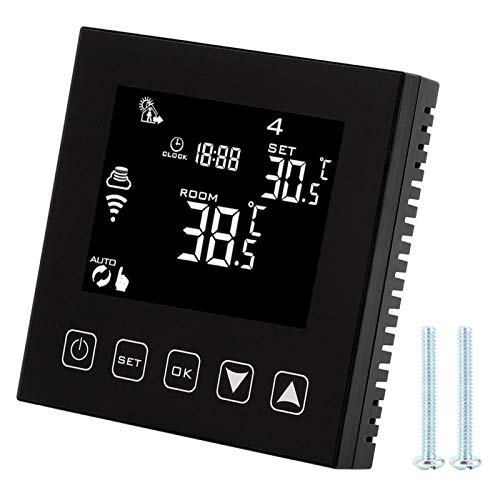 Shipenophy Termostato WiFi Duradero Controlador de Temperatura Inteligente Calefacción de Agua estándar para Oficina para el hogar