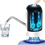 Water Bottle Dispenser 5 Gallon Water Bottle Pump USB Charging Automatic Drinking Water Pump Portable Electric Water Dispenser Water Bottle Switch for Universal 5 Gallon Bottle - Black