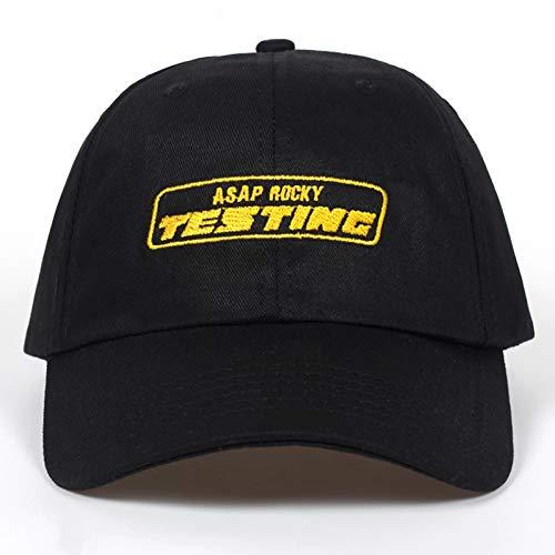 JKYJYJ Album ASAP Rocky Testing Stickerei Baseball Cap Frauen Hysteresenhut Einstellbare Kappe Männer Mode Papa Hüte