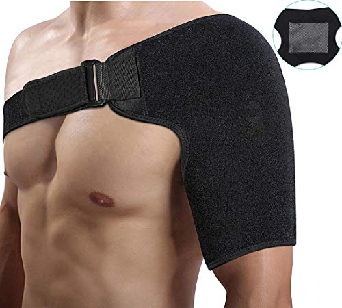 Compression Shoulder Support Brace with Hot Cold Pad, Arm Wraps Neoprene...