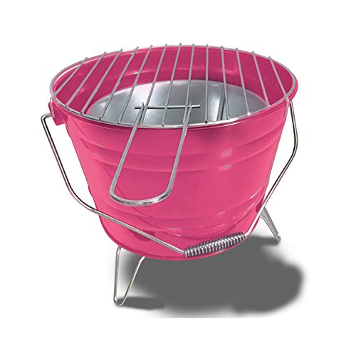 ACTIVA Grill Grilleimer Grillkübel Feuerkorb Picknick Party BBQ Grill Pink