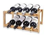 LEYENDAS Botellero de Madera de Bambú. Estante para Botellas de Vino,...