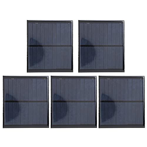 Panel solar - Módulo de placa de energía epoxi de panel solar mini + Cable rojo y negro de 30 CM DC5.5V 160mA para investigación sobre energía solar (5Pcs)