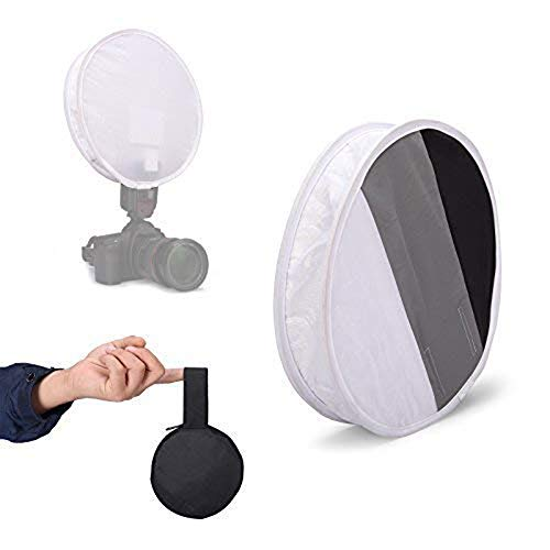 Meking 12 Inch (31cm) Gray Card Portable Softbox Multi-Function Diffuser for Speedlight Flashlight