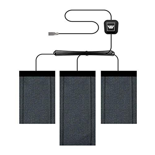 miss-an USB Wärmepads, Graphen   5V USB   Bequem   Bequem   Einstellbar   Beheizte Wäschekissen, Unisex