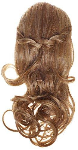 Blond Mix Geflochtene Haarverlängerungen Haarteile   TiHaira Zopf Clip On Halb-Perücke zum anstecken