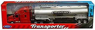 New DIECAST Toys CAR Welly 1:32 W/B Transporter - Freightliner Cascadia Gas Tanker (RED) 32697W-RD