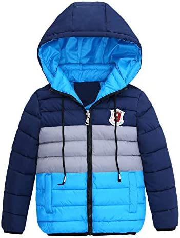 Kehen Kids Little Girl Boy Autumn Winter Hooded Trench Coat Toddler Warm Zipper Down Jacket product image