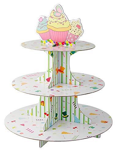 Zenker 3 Pisos Muffins, Decorar Cupcake, Soporte para repostería, Papel, Centimeters