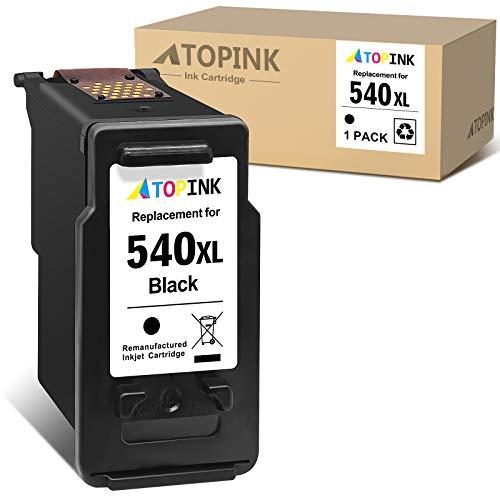 ATOPINK Cartucho de tinta remanufacturado para Canon PG540XL 540XL para Canon Pixma TS5150 TS5151 MG4250 MG3650 MX475 MX535 MG4200 MG3550 MX395 MG3600 MX375 (1 negro)