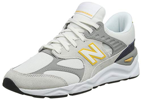 New Balance X-90, Zapatillas para Mujer, Blanco (Nimbus Cloud/Team Away Grey PB), 43.5 EU
