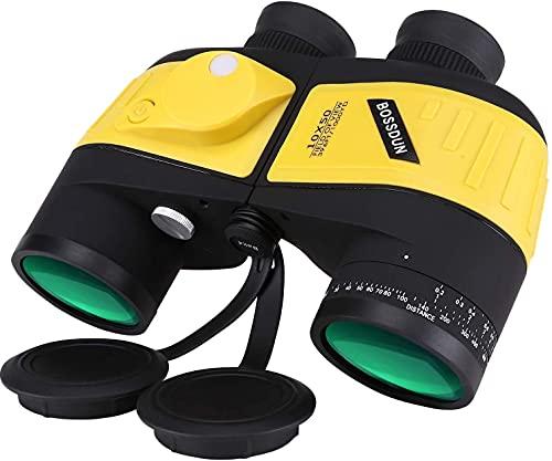 HGJINFANF La precisión de Alta Densidad le Brinda precisión 10x50 binoculares Profesionales para Adultos, brújula de navegación y teleférico, Adecuado al Aire Libre (Color : Y)