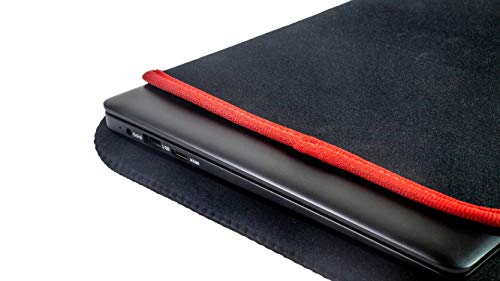 Ematic Laptop Kit with Neoprene Sleeve, Silent Wireless Mouse, & Camera Over (EPL220K)