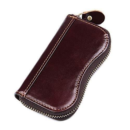 GeSoo sleutelhanger box Dominante verpakking portefeuille groot leer autosleutel portemonnee opbergdoos met 6 haken 2 kaartsleuven, geschikt voor mannen en vrouwen