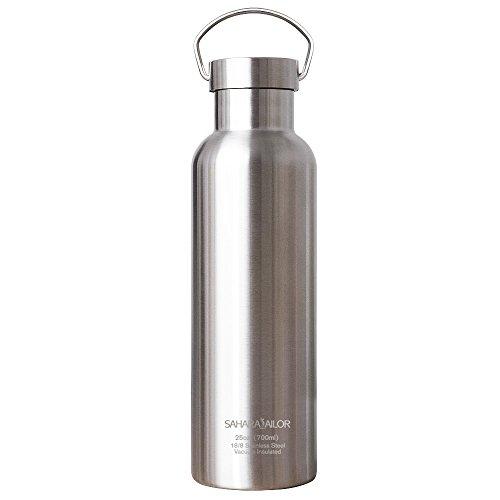 Sahara Sailor Bottiglia Acqua in Acciaio Inox, 700ML Vuoto Isolato Borraccia Termica in Metallo, Mantiene 24 Ore Freddo e 12 Ore Caldo, Senza BPA, Per Ufficio, All'aperto, Campeggio o Gli Sport