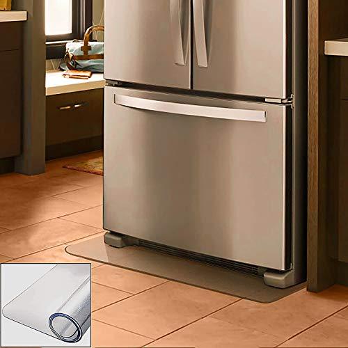 冷蔵庫 マット 650*700*2mm キッチンマット 透明 床保護マット 凹み防止 フローリングシート