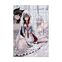 Azur Lane アズールレーン アニメキャラクター大人の子供のための98ピースパズル、大人のための木製ジグソーパズル教育玩具diyの家の装飾